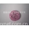 彩珠粉红梅花扣