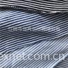 竹节蓝白彩条汗布