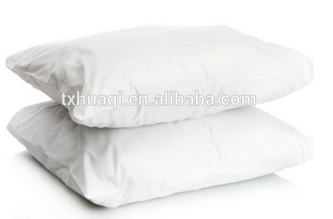 pure white microfiber pillow