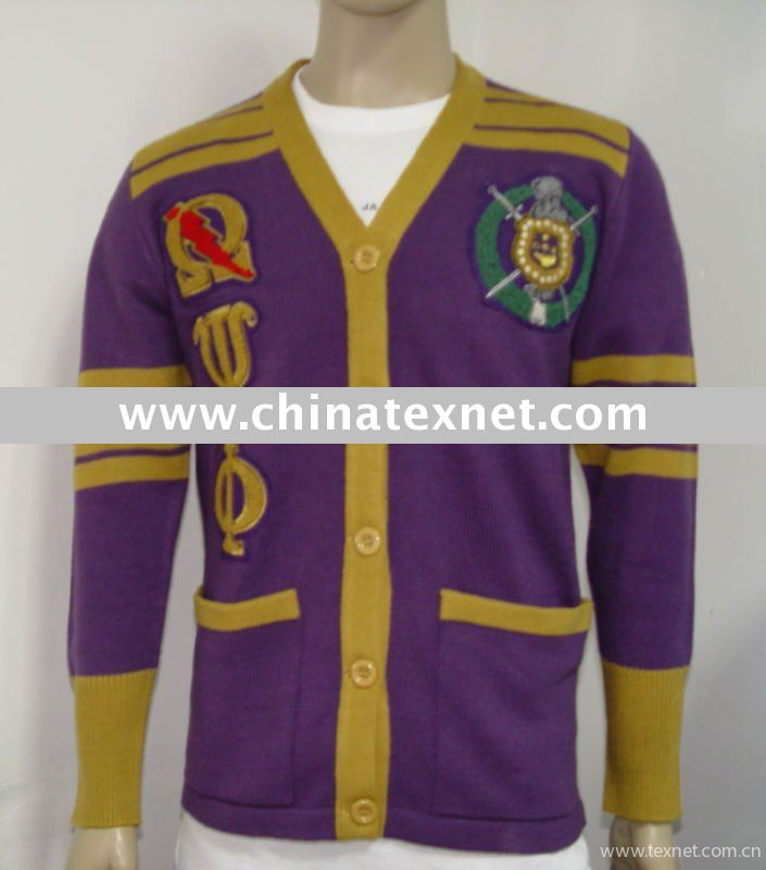 Omega Psi Phi Chenille Cardigan Sweater China Omega Psi Phi