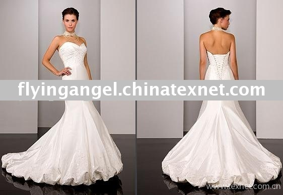 Gorgeous Boob-tube Beaded Embroidery Wedding Dress Wedding Gown 1212 ...