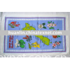 souvenir 100%cotton printed tea towel