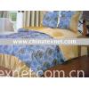 Rose Garden polyester Printed super soft bronzing bedding set