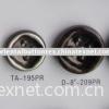 plastic four holes button