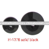 4Holes fashion faced solid black button