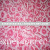 coral fleece fabric with burnt out