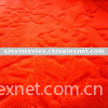 pv plush fabric with cutting  flower