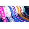 star printed organza ribbon