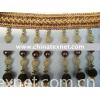 Brown bead trim curtain tassel