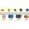 Millefiori glass beads Floral glass beads