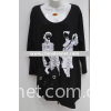 fashion lady's t-shirt, knitted t-shirt, cotton t-shirt