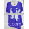 fashion lady's t-shirt, knitted t-shirt, female t-shirt