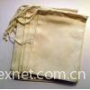 Natural Cotton Muslin Bag, Favor Bag, Tea Bag