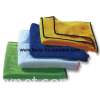 Microfiber bath towel with piping
