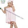 Microfiber dress bathrobe with hair drying turban