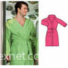 Men/women microfiber bathrobes