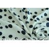 fashion dots satin chiffon/50d stretch printed satin chiffon fabric