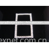 rectangle round rhinestone buckle