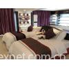 3 star stripe hotel linen