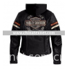 Harley Davidson 98142-09vm Women's Miss Enthusiast 3-in-1 Leather Jacket with hoody.
