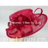 Wedding bridal church sinamay kentucky derby royal ascot race hat: YRSM14080