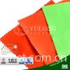 China Yulong supply environmental low formaldehyde EN20471 poly/cotton satin hi-viz yellow fabric for safety workwear