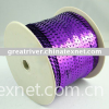 silver-based purple colour sequin