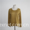 Basic Crew Neck Pullover Sweater Front Short Back Long