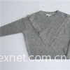 Girls Short Length Pullover Sweater With Fringe