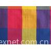 Cotton plain weave plaid