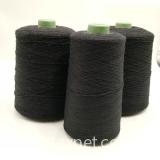 Pure black Nm26/2plies  carbon inside staple fiber blended 70% bulky acrylic staple fiber for knitting touchscreen gloves-XT11453