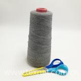 grey Nm23/2plies  65% cashmere wool  15% nylon fiber  20% carbon inside fiber  Worsted spun yarn for soft touch screen gloves-XT11495