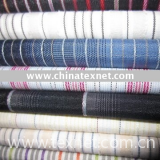 linen cotton yarn dyed blended fabric
