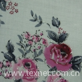 Flax printed cloth