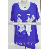 fashion ladys t-shirt, knitted t-shirt, cotton t-shirt