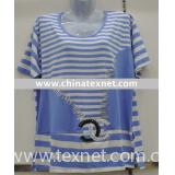 fashion lady's t-shirt, plus size t-shirt, cotton t-shirt