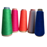 Viscose and polyester blended yarn