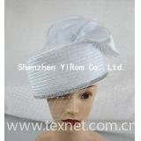 Wedding bridal satin ribbon church kentucky derby hat: YRSM14107