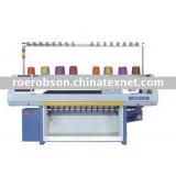 Computerized jacquard flat knitting machinery