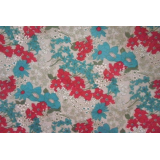 Cotton silk printed fabric