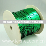 silver-based green colour sequin