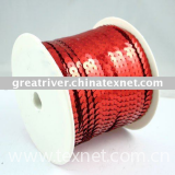 silver-based red colour sequin