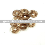 brown   and white  wooden loose sequin