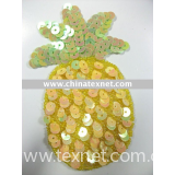 decorative pineapple-shaped sequins