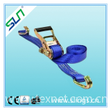 Ratchet tie down/ cargo lashing with end fittings -- Hebei Sln Sling