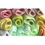 Plain microfiber double fleece fabric
