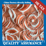 D0914 YAX China supplier wholesale YX1616 Chinashow White and Orange Emproidery Cotton Organza Sequence Lace Fabric