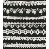 Soluble embroidery lace