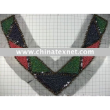 V-shaped beading collar