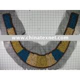 fashion wooden  beading  collar